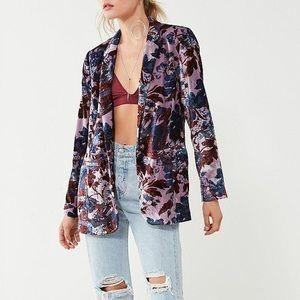 Urban Outfitters Velvet Floral Blazer NWT